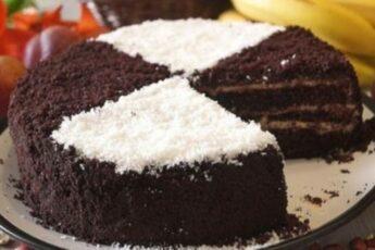 Очень вкусный тортик на раз, два, три